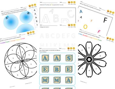 Lettres en couleurs - PedagoConcepto
